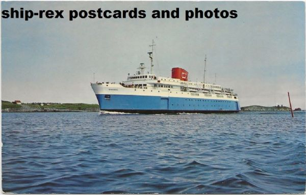 BLUENOSE (1956b, Canadian National) postcard (d)